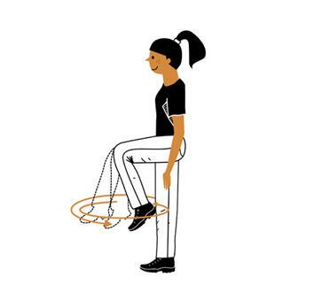 6 exercices d'échauffement avant de partir en randonnée - genoux