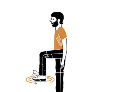 6 exercices d'échauffement avant de partir en randonnée - chevilles