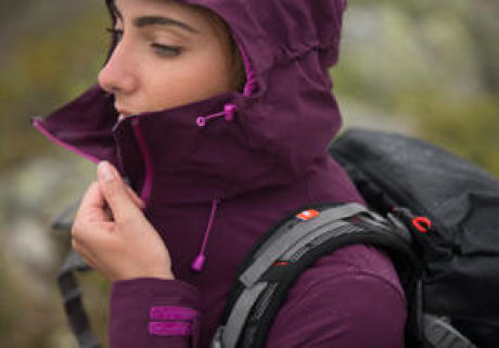 women's waterproof hiking jacket banner