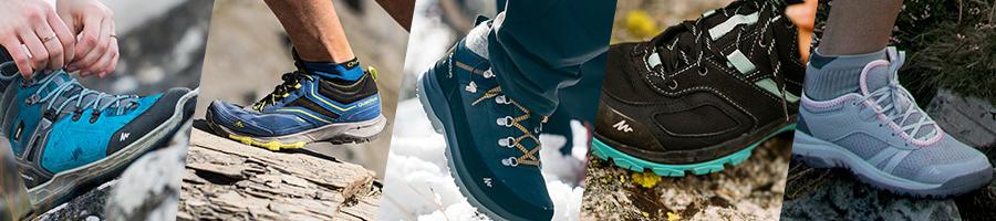 bannière chaussures randonnée