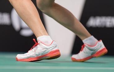 Resistência à abrasão calçado de badminton
