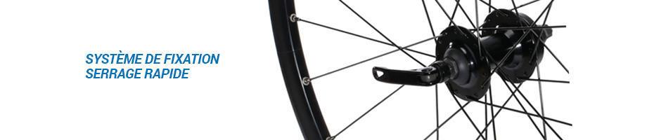 comment choisir roue velo ville systeme de fixation serrage rapide quick release