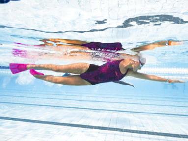 palmes de natation courtes