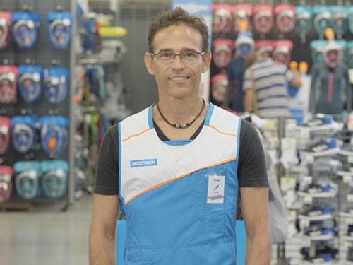 Alfredo, venditore subacquea Decathlon de Perpignan