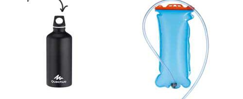 how to choose a water bottle or water pouch for camping or hiking?