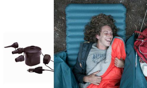 como escolher corretamente uma bomba para encher colchões e tendas de campismo?