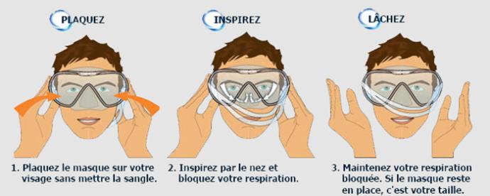 Um pequeno truque para escolher o tamanho correto de máscara de snorkeling