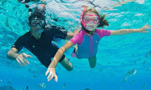 initiation snorkeling randonnée palmée enfants masque tuba subea decathlon