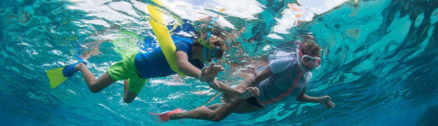 conseil avantages apport flottabilité snorkeling frites gonflables subea decathlon