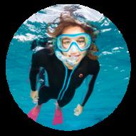 Un masque de snorkeling