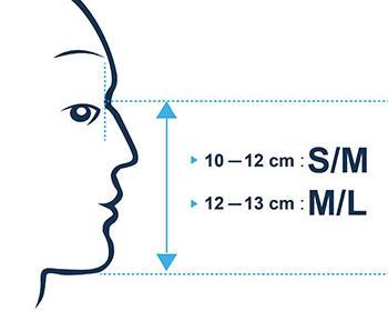 Les deux tailles du masque de snorkeling Easybreath