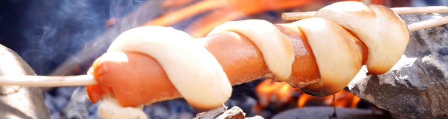 簡易兒童健行露營食譜-熱狗-香腸-披薩串