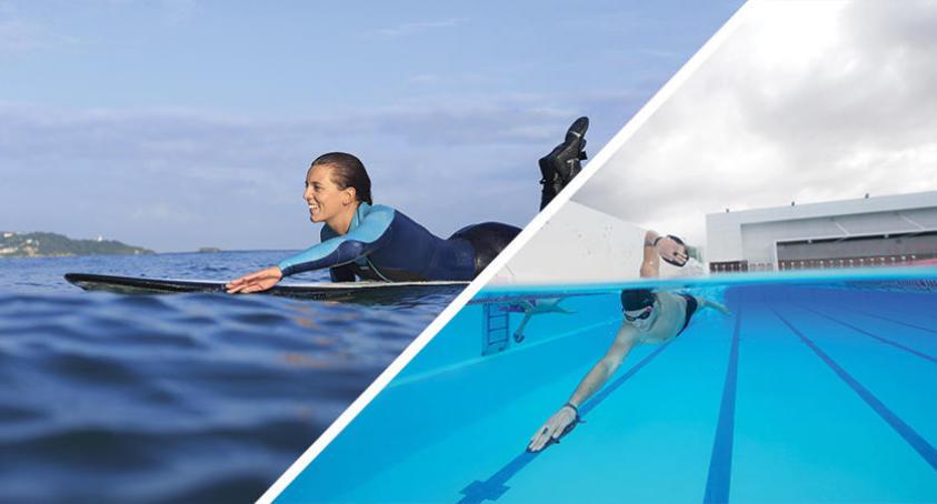 le crawl en natation pour améliorer sa rame en surf