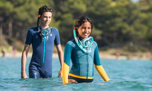 pratiquer snorkeling randonnée palmée équipement adapté enfants subea decathlon