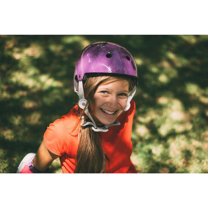 Casque roller skateboard trottinette PLAY 5 violet