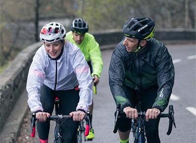 Wear the proper clothes to ride in rainy weather