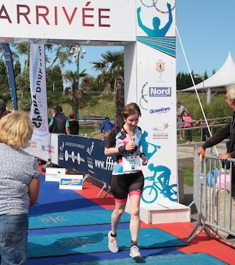 arrivée premier triathlon