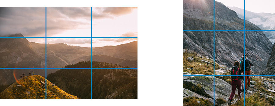 Comment faire de belles photos en montagne - cadrage 2 tiers 1 tiers