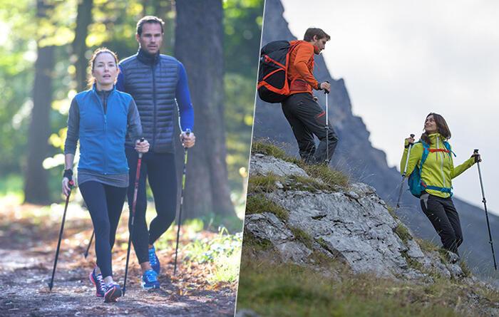 Quelles différences entre les bâtons de marche nordique et les bâtons de randonnée ?