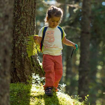 Caminhar com crianças pequenas