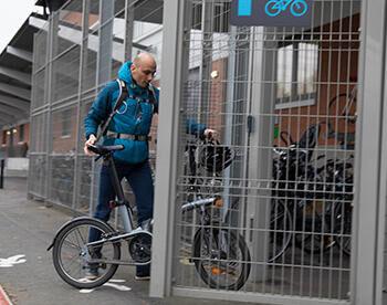 Mathieu, cycliste intermodal depuis 7 mois