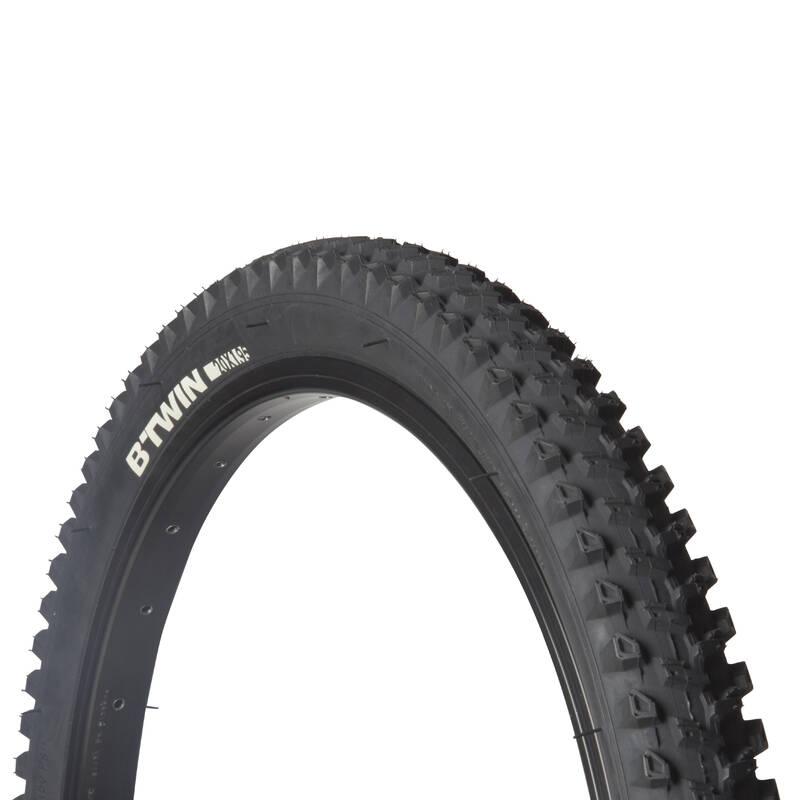 PLÁŠTĚ NA DĚTSKÁ KOLA Cyklistika - PLÁŠŤ NA HORSKÉ KOLO 20 × 1,95 BTWIN - Náhradní díly a údržba kola