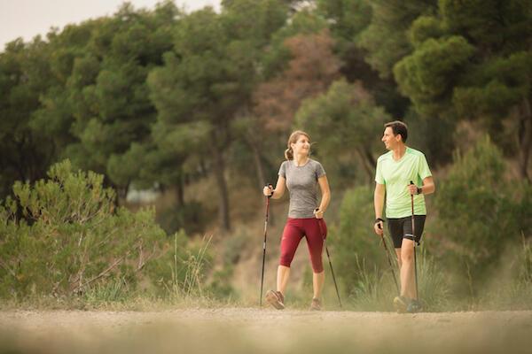 Fitness walking or Nordic walking