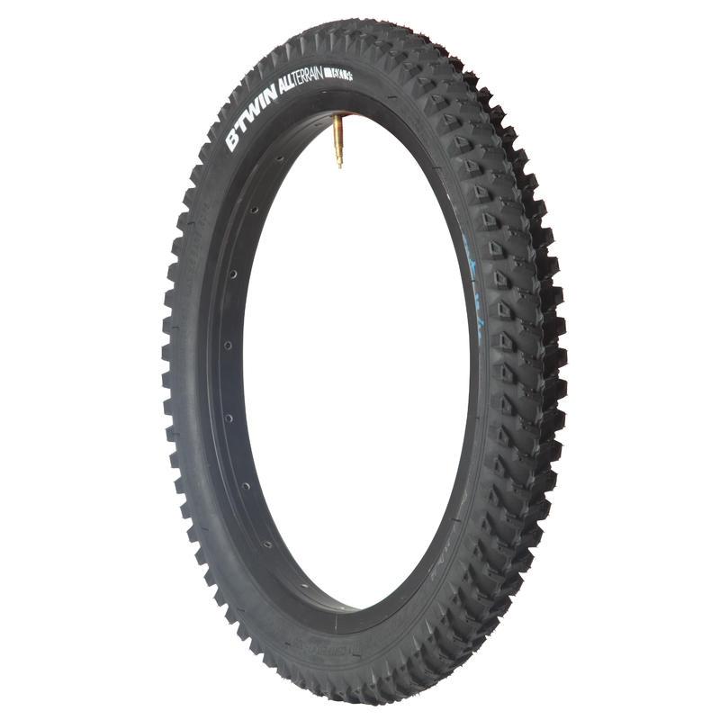 ยางจักรยานเสือภูเขาสำหรับเด็ก ขอบยางเสริมแรงขนาด 16x1.95 นิ้ว / ETRTO 47-305