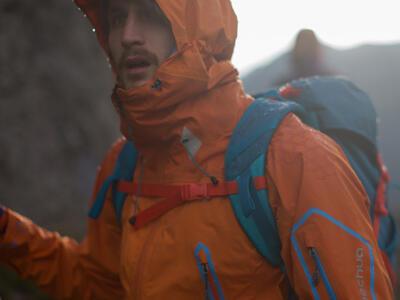 mountain hiking storm equipment