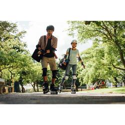 Bolsa Patinaje Patiente Skateboard Oxelo Fit Adulto Negro 32 Litros