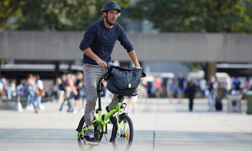 fiets en werk, aankomen zonder te transpireren