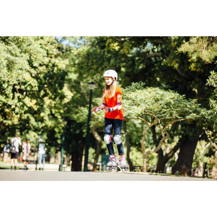 Set de 3 protecciones roller skateboard patinete niños PLAY violeta