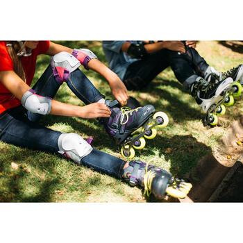 Set 3 beschermers Play voor kinderen, voor inlineskaten, skateboard, step, paars