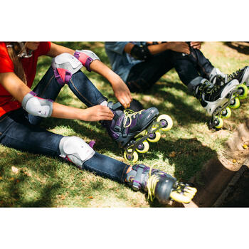 Set 3 protections roller skate trottinette enfant PLAY - 143509