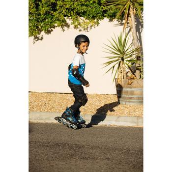 Protektoren 3er-Set Play Inliner Skateboard Scooter Kinder schwarz