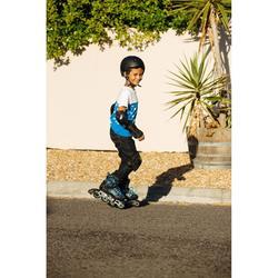 Set 3 protections roller skate trottinette enfant PLAY noir