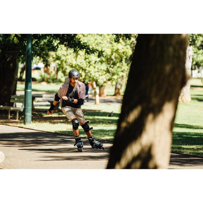 Roller fitness homme FIT 5 noir bleu - 143716