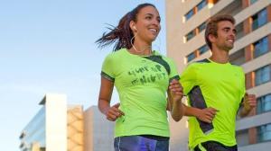 man vrouw running Decathlon