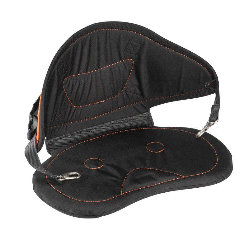 Canoe-kayak comfort seat with 4-point fixing for sit-on-top models