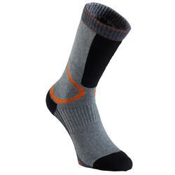 Kousen Fit heren skaten grijs/oranje
