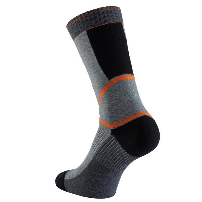 Calcetines Patinaje Patiente Skateboard Oxelo Fit Hombre Gris Naranja