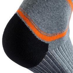 Kousen Fit heren skaten grijs/oranje - 143832