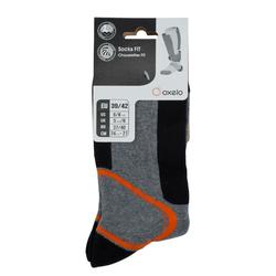 男款滑輪運動襪FIT-灰橘配色