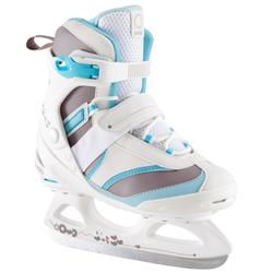 Patín sobre hielo FIT 3 Mujer blanco azul