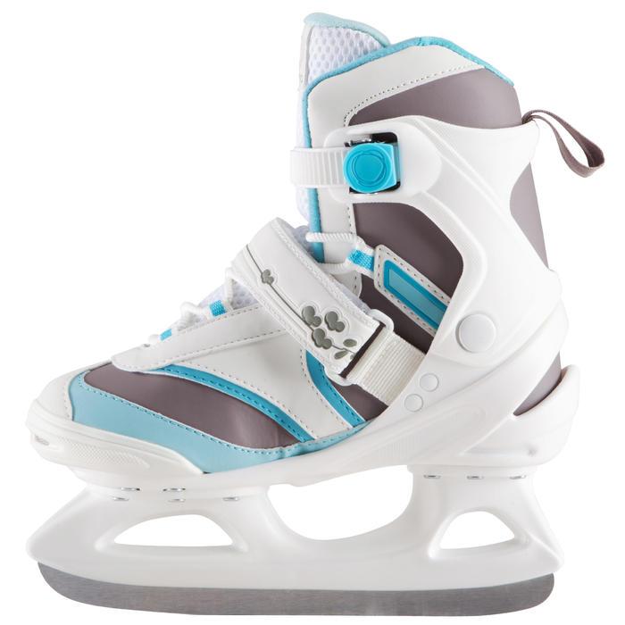 Patines sobre hielo FIT 3 blanco azul