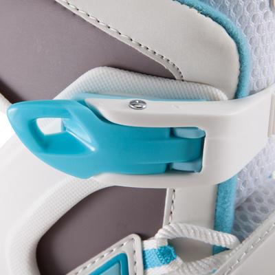 Patins à glace FIT 3 femme blanc bleu
