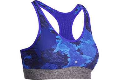 Brassiere de fitness bleu Domyos