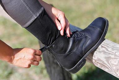 boots d'équitation chaussettes noires
