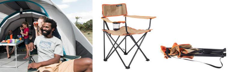 chaise de camping beige