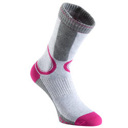 Calcetines roller mujer FIT gris y fucsia